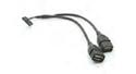 Interní USB kabel, 2x USB (female), 16-pin (female)